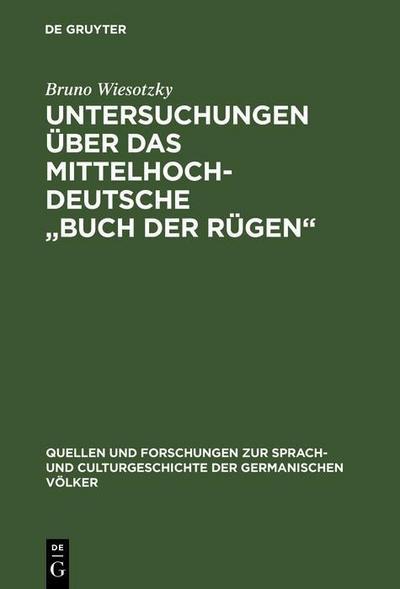 Untersuchungen über das mittelhochdeutsche