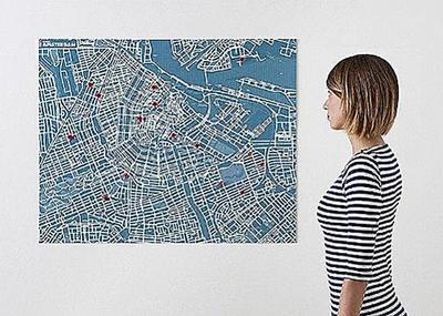 Pin City - Amsterdam - Light Blue