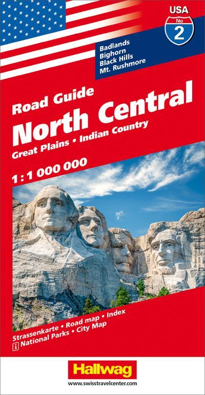 Hallwag USA Road Guide 02 North Central 1 : 1.000.000