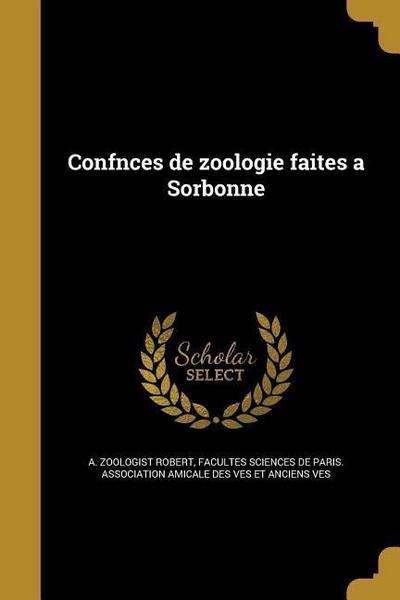 FRE-CONFNCES DE ZOOLOGIE FAITE