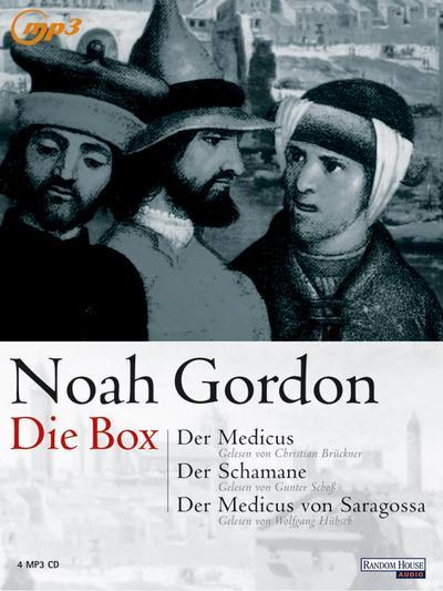 Noah Gordon - Die Box; MP3   ; 4 Bde/Tle; Sprecher: Brückner, Christian /Schoß, Gunter /Aus d. Dt. v. Wasel, Ulrike /Timmermann, Klaus /Berr, Klaus; Deutsch; Hörbücher ; im MP3 Fomat