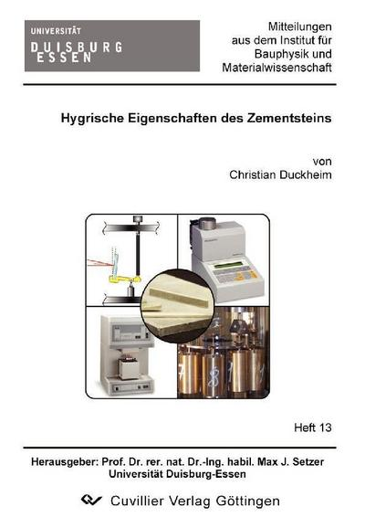 Hygrische Eigenschaften des Zementsteins
