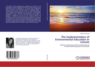 The implementation of Environmental Education in schools