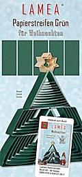 LAMEA Papierstreifen Grün für Weihnachten