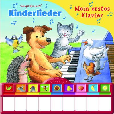 Mein erstes Klavier - Kinderlieder. Kinderbuch mit Klaviertastatur