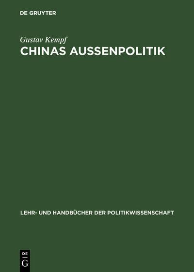 Chinas Aussenpolitik