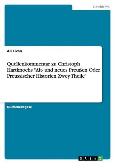 Quellenkommentar zu Christoph Hartknochs