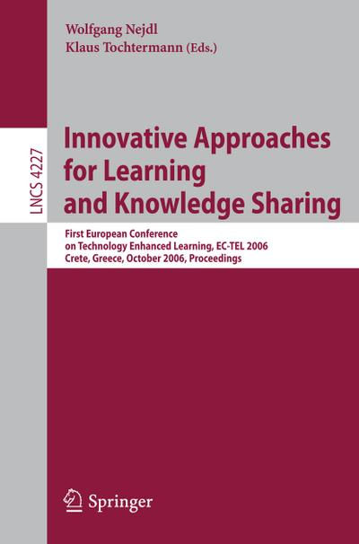 Innovative Approaches for Learning and Knowledge Sharing