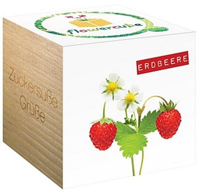 Flowercube Erdbeere - Chic.Mic - , Deutsch, , Zuckersüße Grüße, Zuckersüße Grüße