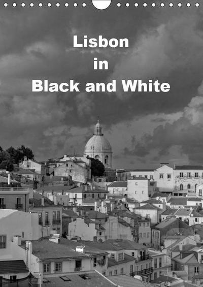 Lisbon in Black and White (Wall Calendar 2019 DIN A4 Portrait)