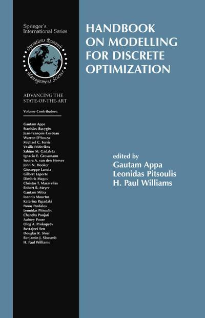 Handbook on Modelling for Discrete Optimization