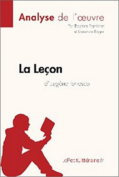 La Leçon d'Eugène Ionesco (Analyse de l'oeuvre)