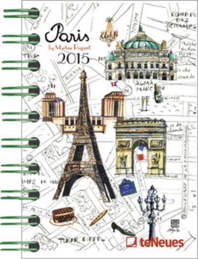 2015 Paris - Martine Rupert Pocket Deluxe Diary 8.8 x 13cm - TE NEUES PUBLISHING UK - , Deutsch, , ,