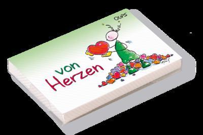 Oups Kärtchenbox: Von Herzen - Werteart Verlag - Karten, Deutsch, Kurt Hörtenhuber, ,