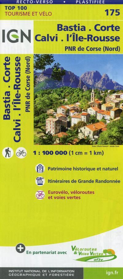 Bastia.Corte.Calvi.Île Rousse 1:100 000