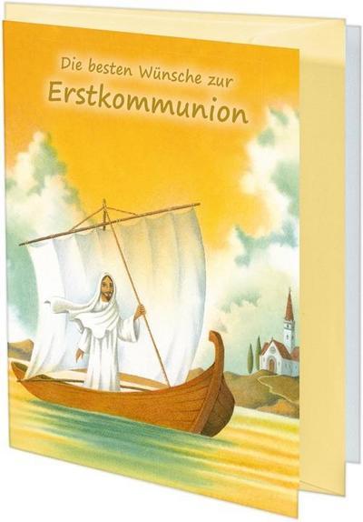 Die besten Wünsche zur Erstkommunion; Glückwunschkarte; Ill. v. Ferri, Giuliano; Deutsch; vierfarbig