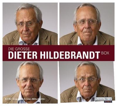 Die große Dieter Hildebrandt-Box; Mit Nie wieder 80 / Dieter Hildebrandt wirft ein / Ausgebucht / Ich musste immer lachen / Vater unser gleich nach der Werbung; 9 Bde/Tle; Sprecher: Hildebrandt, Dieter; Deutsch; Audio-CD