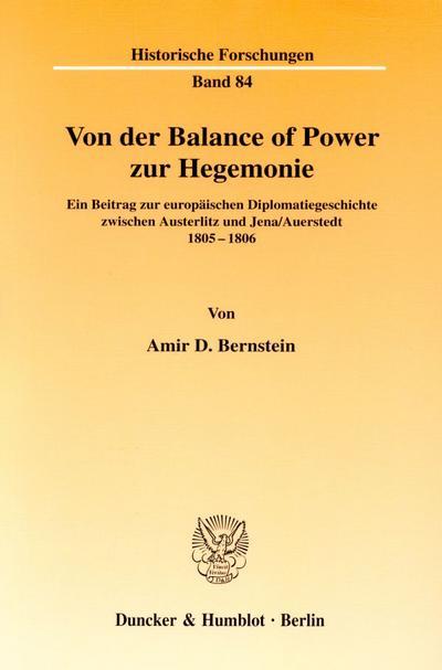 Von der Balance of Power zur Hegemonie
