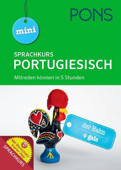 PONS Mini Sprachkurs Portugiesisch: Buch mit Aussprachetraining als MP3-Download und Wortschatztrainer-App