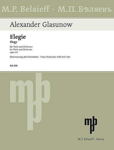 Elegie op.44für Viola und Klavier