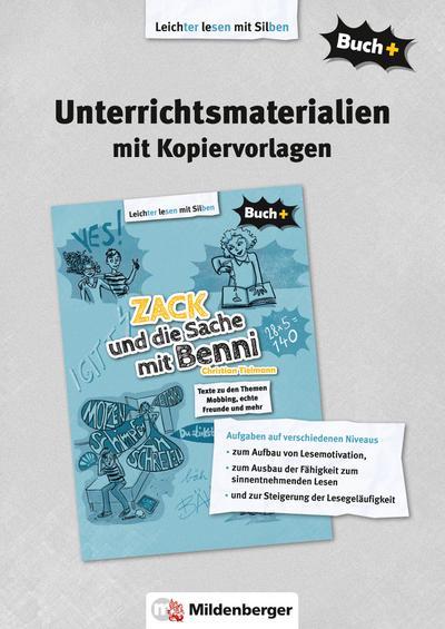 Buch+: Zack und die Sache mit Benni - Lehrermaterial mit Kopiervorlagen
