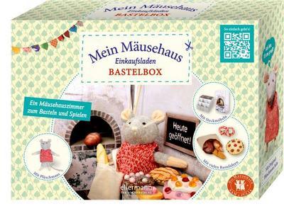 Bastelbox - Mein Mäusehaus-Einkaufsladen: Ein Mäuseladen zum Basteln und Spielen - Mit Plüschmaus, Steckmöbeln und vielen Bastelideen