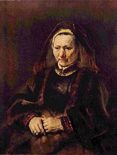 Rembrandt Harmensz. van Rijn - Porträt einer sitzenden alten Frau - 1.000 Teile (Puzzle)