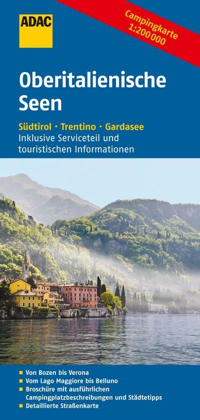 ADAC Campingkarte Oberitalienische Seen
