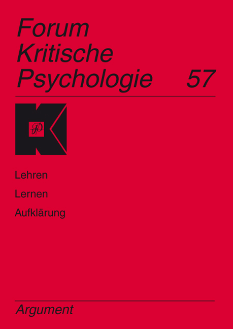 Forum Kritische Psychologie / Lehren - Lernen - Aufklärung   ... 9783886197965