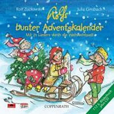 Rolfs bunter Adventskalender. CD mit Buch