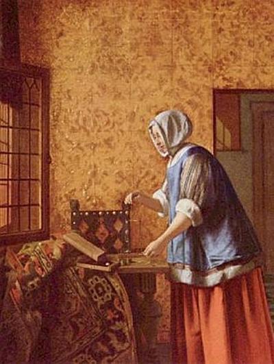 Pieter de Hooch - Die Goldwägerin - 500 Teile (Puzzle)