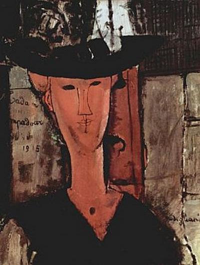 Amadeo Modigliani - Dame mit Hut - 200 Teile (Puzzle)
