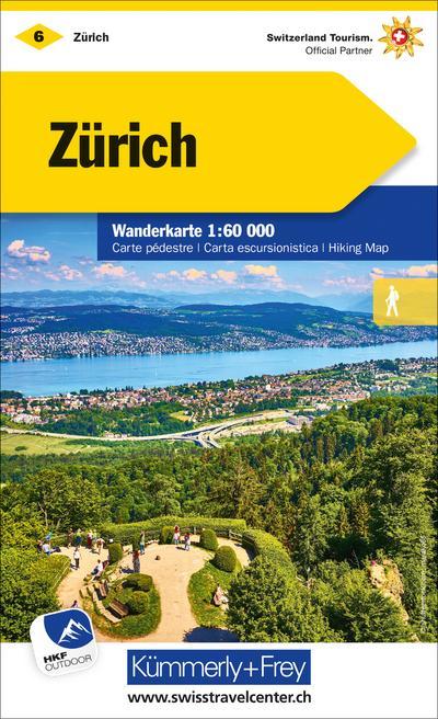 Zürich Wanderkarte 1:60 000 Nr. 06