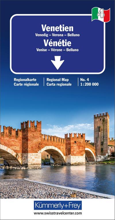 Strassenkarte Italien Blatt 4: Venetien