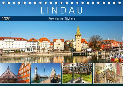 Lindau - Bayerische Riviera (Tischkalender 2020 DIN A5 quer)