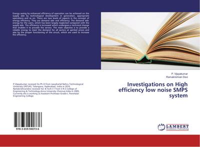 Investigations on High efficiency low noise SMPS system