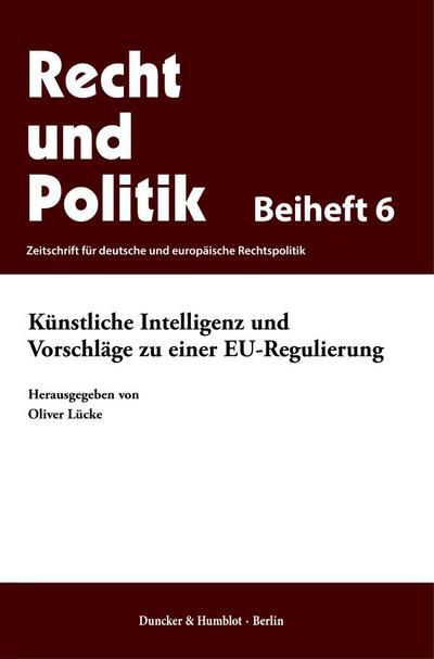 Künstliche Intelligenz und Vorschläge zu einer EU-Regulierung