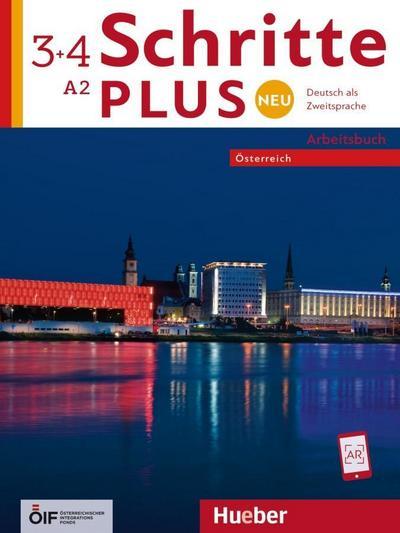 Schritte plus Neu 3+4 - Österreich / Arbeitsbuch mit 2 Audio-CDs