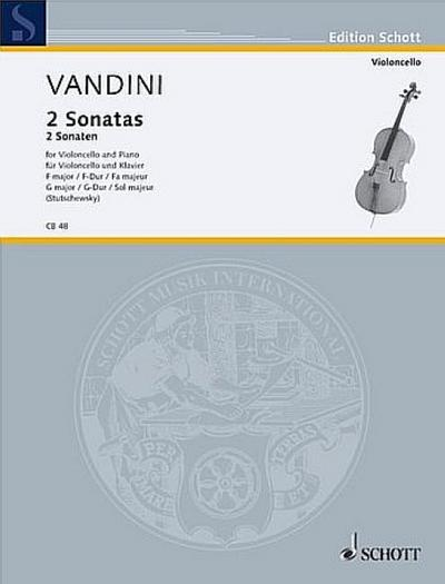 2 Sonaten F-Dur und G-Durfür Violoncello und Klavier