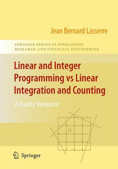 Linear and Integer Programming vs Linear Integration and Counting