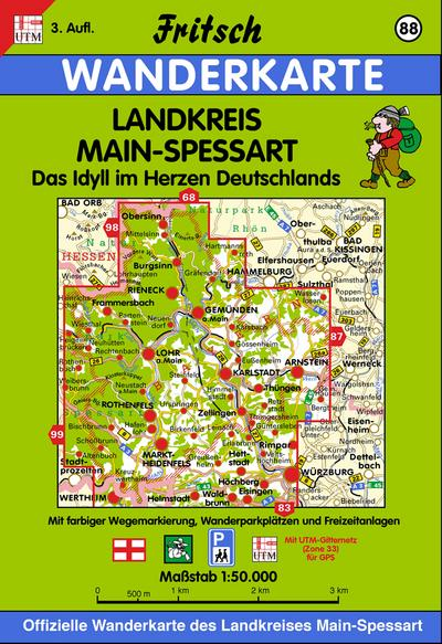 Landkreis Main-Spessart 1 : 50 000