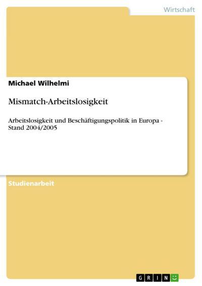 Mismatch-Arbeitslosigkeit