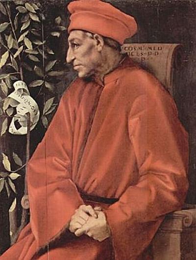 Jacopo Pontormo - Porträt Cosimo Il Vecchio de' Medici - 100 Teile (Puzzle)