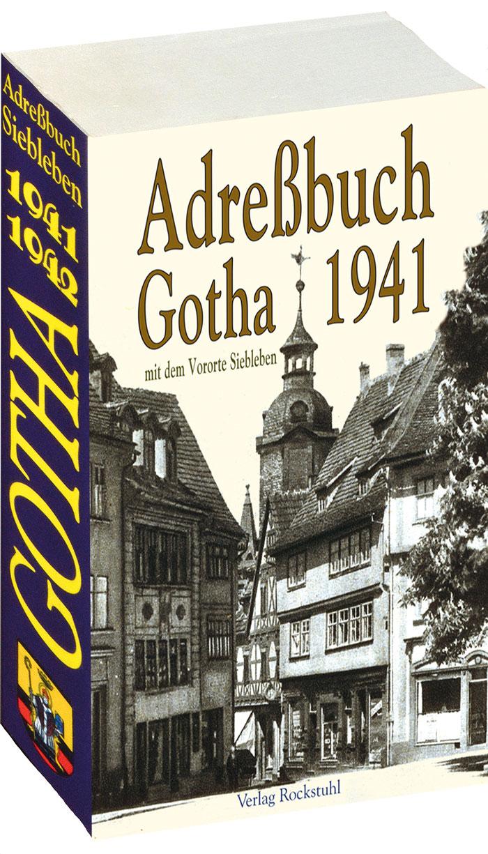 Adreßbuch der Stadt GOTHA 1941 /1942 in Thüringen