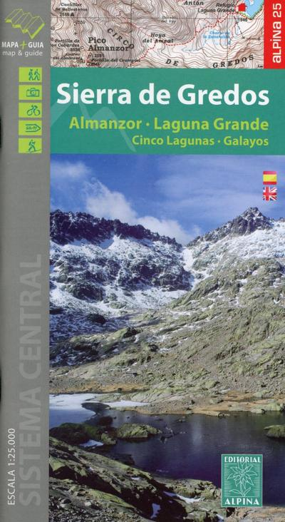 Wanderkarte Sierra Gredos 1:25 000