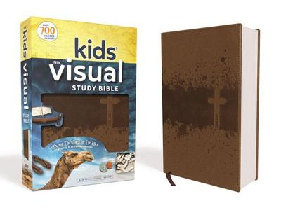 NIV Kids' Visual Study Bible, Leathersoft, Bronze, Full Color Interior: Explore the Story of the Bible---People, Places, and History