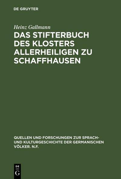 Das Stifterbuch des Klosters Allerheiligen zu Schaffhausen