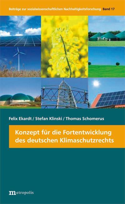 Konzept für die Fortentwicklung des deutschen Klimaschutzrechts