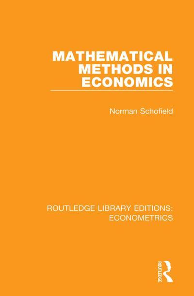 Mathematical Methods in Economics