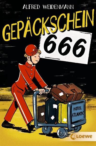Gepäckschein 666   ; mit Spotlack; Deutsch;  -